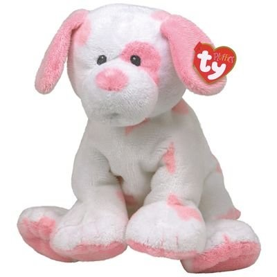 """Pluffies 10"""" Love to Baby Pink Puppy"""