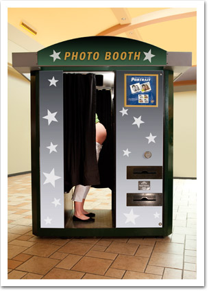 Pregnant Woman at Photo Booth