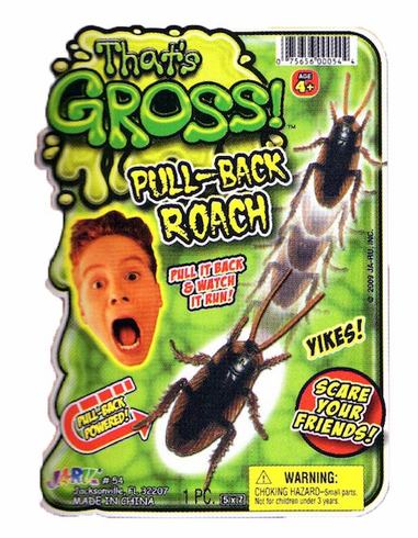Pull Back Roach Prank Toy