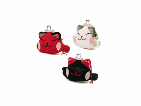 Purse Cat with Clip