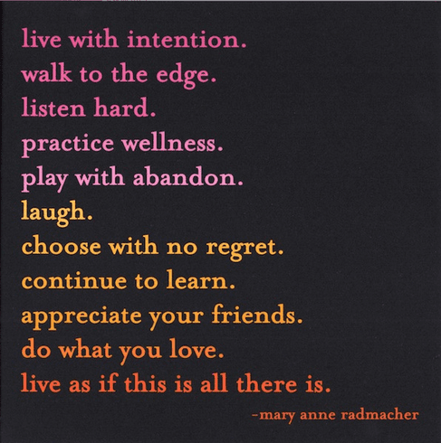 Radmacher - Live with Intention
