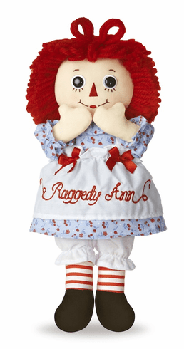 "Raggedy Ann Classic Medium 12"" Doll"