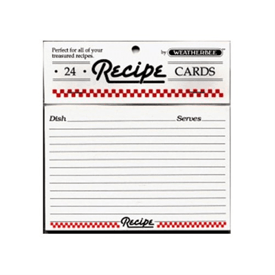 Recipe Card 3x5 (Pack of 24)