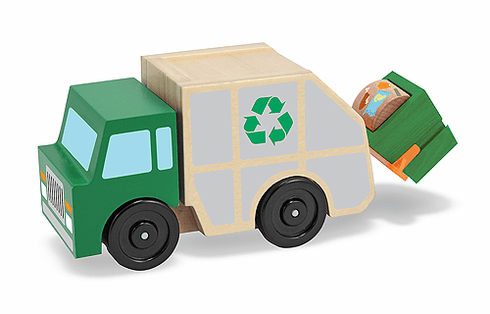 Recycling Truck Wooden Vehicle