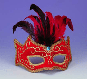 Red and Gold Half Mask