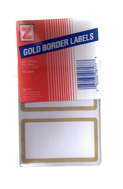 Report Cover Labels