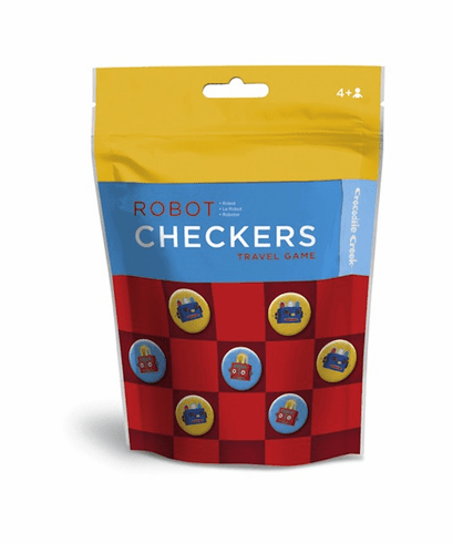 Robot Checkers Travel Pouch Game