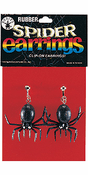 Rubber Spider Clip-On Earrings
