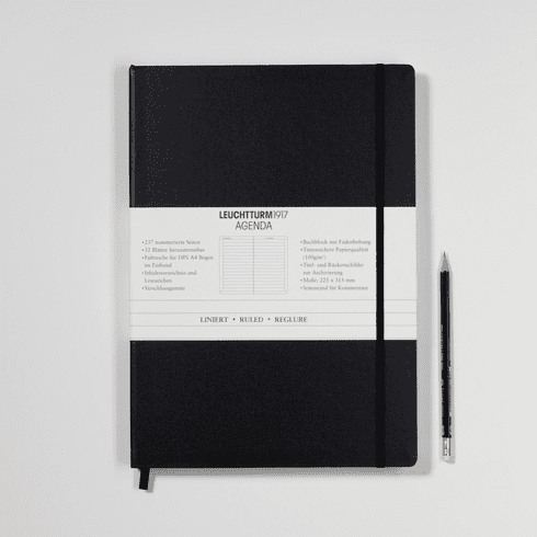 Ruled Agenda Notebook