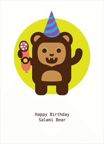 Salami Bear Birthday
