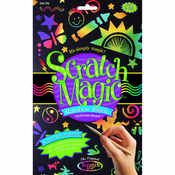 Scratch Magic Art Rainbow Black