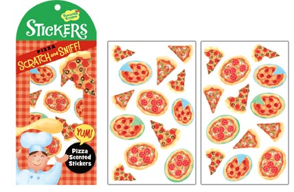 Scratch & Sniff Pizza Stickers
