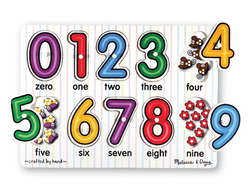 See-Inside Number Peg Puzzle