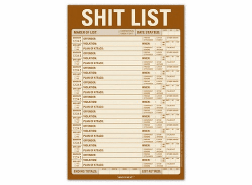 Shit List Note Pad
