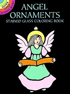 SM Stained Glass Coloring Book: Angel Ornaments