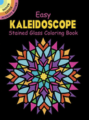 SM Stained Glass Coloring Book: Easy Kaleidoscope