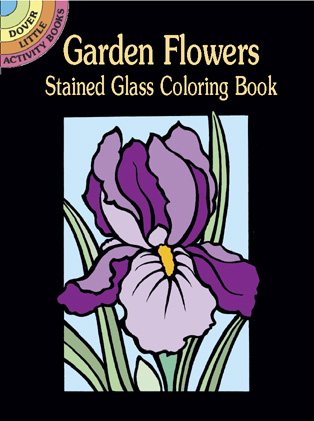 SM Stained Glass Coloring Book: Garden Flowers