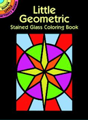 SM Stained Glass Coloring Book: Little Geometric Shapes