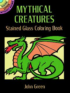 SM Stained Glass Coloring Book: Mythical Creatures