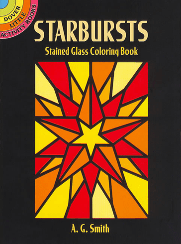 SM Stained Glass Coloring Book: Starbursts