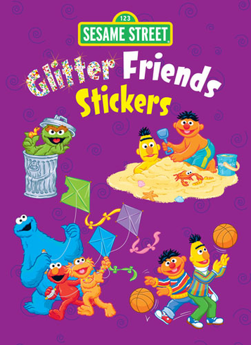 SM Sticker Book: Glitter Sesame Street Friends
