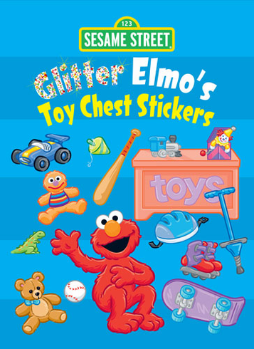 SM Sticker Book: Sesame Street Glitter Elmo's Toy Chest