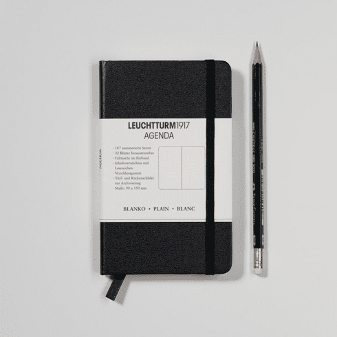 Small Plain Notebook Black