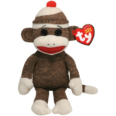 Socks the Sock Monkey Brown 8""
