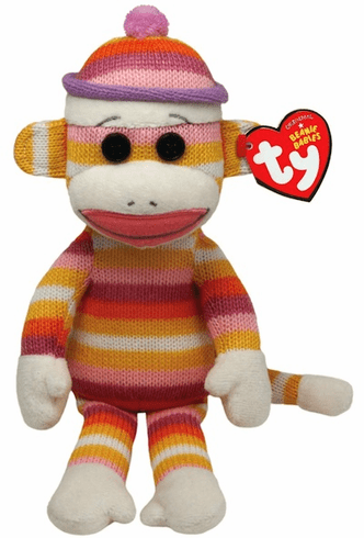 Socks the Sock Monkey - Pastel Stripes