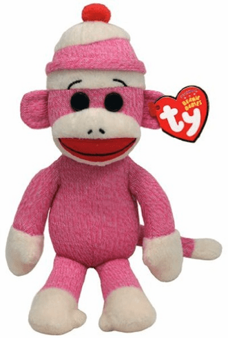 Socks the Sock Monkey Pink 8""