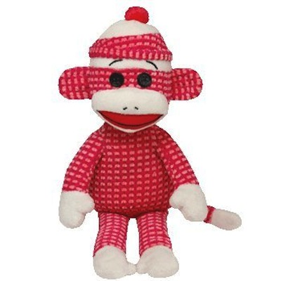 Socks the Sock Monkey - Pink Quilted