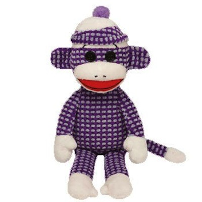 Socks the Sock Monkey - Purple Quilted