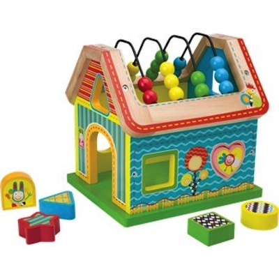 Sort & Count Wooden Shape Sorting House