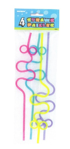 4 Squiggle Loop Straws