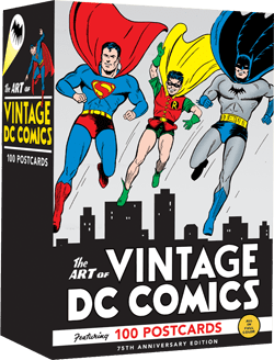 The Art of Vintage DC Comics: 75th Anniversary Postcard Set