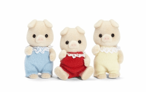 Calico Critters Three Little Pig Triplets