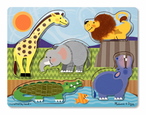 Touch and Feel Zoo Animals Puzzle