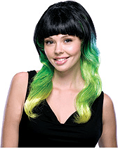 Tri-Color Wig Lime Delight