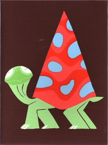 Turtle in Party Hat
