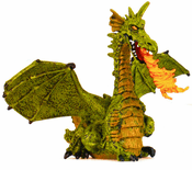 Winged Green Dragon w/ Flame