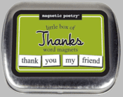 Word Magnets: Little Box of Thanks