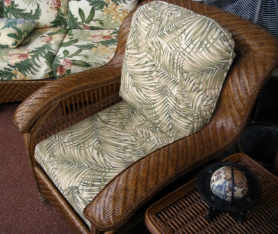 Casablanca Rattan Chair Cushions Set