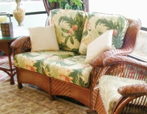 Casablanca Rattan Loveseat Replacement Cushions