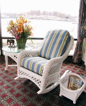General Deep Seating Wicker Cushions: Rocker Set
