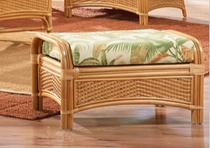 General Rattan Ottoman Cushion