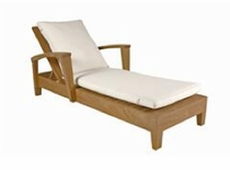 Generic Teak Chaise Lounge Replacement Cushions