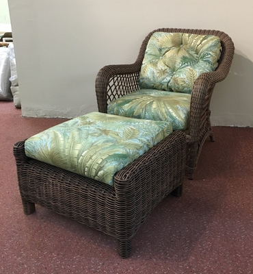 Lloyd Flanders Reflections Closeout Chair and Ottoman Replacement Cushions
