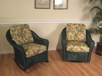 Lloyd Flanders Closeout Cushions: 2 Reflections Chairs/Rockers
