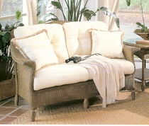Lloyd Flanders Embassy Loveseat Replacement Cushions Set