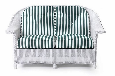 Lloyd Flanders Front Porch Loveseat Replacement Cushions Set